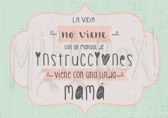"""""""La vida no viene con un manual de instrucciones, viene con una linda Mamá"""""""